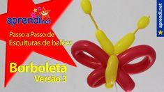 69  Aprendi.net: Esculturas de Balões - Borboleta - Versão 3