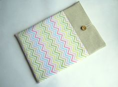 Chevron MacBook sleeve 13 with pockets MacBook Pro by LinenSleeve, $24.00
