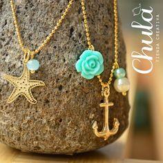 Para que siempre estés en #verano!!!  Cadenita# estrella y Cadenita #ancla https://www.facebook.com/ChulaTiendaCreativa?fref=photo