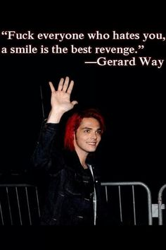 Gerard Way Quotes inspiring quote gerard way things that make me smile in Gerard Way Quotes. Here is Gerard Way Quotes for you. Gerard Way Quotes inspiring quote gerard way things that make me smile in. Gerard Way Quotes 77 . Mcr Quotes, Mcr Memes, Band Quotes, Band Memes, Crush Quotes, Gerard Way, Emo Bands, Music Bands, My Chemical Romance