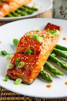 Salmon Teriyaki or use the same recipe for any kind of fish . I did with tilapia (all I had in the freezer) and it was delicious, mAke sure not to marinate for to long for  tilapia or any thin filets.