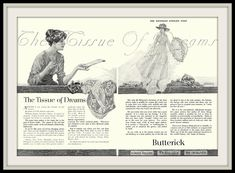 1916 Womens 'Tissue of Dreams' Butterick Designer Tissue - Pen and Ink illustration by Franklin Booth (carlylehold) by carlylehold (flickr) Tags: haefner franklin booth pen ink drawing illustration picture carlylehold 1916 robertchaefner robert c b