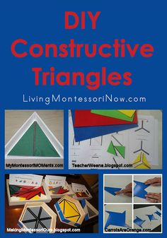DIY Montessori Constructive Triangles - Printables, Tutorials, and Presentations and Extensions