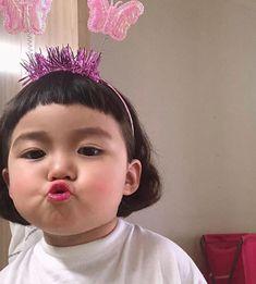 Cute Kids Pics, Cute Baby Girl Pictures, Cute Toddlers, Cute Girls, Cute Asian Babies, Cute Funny Babies, Korean Babies, Cute Little Baby, Little Babies