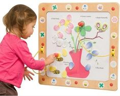 Flowers and Bees Magnetic Wall Game - SensoryEdge