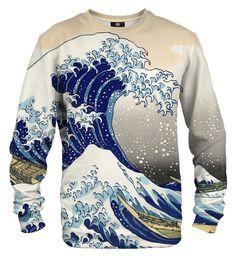 556fd51eb41fa6 Bluza ze wzorem Kanagawa Wave