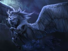 pegasus, horses, blue, greek mythology creatures, fantasi art, unicorn, ancient greece, wing hors, black