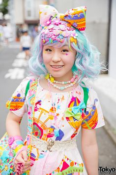 Blue & Pink Haired Harajuku Girl