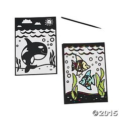 Scratch N' Reveal Under the Sea Scenes, Magic Scratch, Crafts for Kids, Craft & Hobby Supplies - Oriental Trading