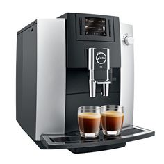 Perfect for a small office or home that wants espresso, cappuccinos and lattes quickly & easily, buy the JURA E6 automatic coffee machine with built in grinder