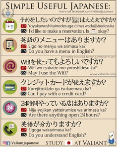 Simple Useful Japanese Pinning it on funnies since it's the more popular board #japaneselessons #learnjapanese