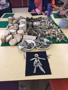 Natural loose parts that children can use for crafting.