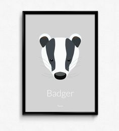 Badger Poster - Available at www.bomedo.com