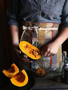 Roasted Kabocha Squash Soup on Honey & Jam Jam Recipes, Cooking Recipes, Cooking Tips, Fresco, Butternut Squash, Cooking Photos, Goat Cheese Salad, Keto, Gourmet