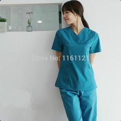 Nurse Uniform Hospital Lab Coat Korea Style Women Hospital Medical Scrub Clothes Uniform Fashion Design Breathable free Shipping
