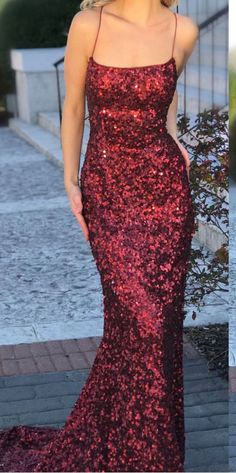 Burgundy Mermaid Formal Dresses Sexy Backless Long Sparkly #prom #promdress #dress #eveningdress #evening #fashion #love #shopping #art #dress #women #mermaid #SEXY #SexyGirl #PromDresses