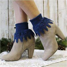 Lace socks - signature lace socks - victorian lace - cuff socks - signature… Lace Socks, Lace Cuffs, Boot Cuffs, Boot Socks, Socks For Flats, Signature, Bare Foot Sandals, Leg Warmers, Stocking Stuffers