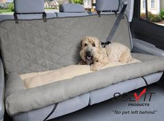 Gray Comfortable Car Cuddler Dog Beds