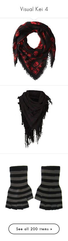 """Visual Kei 4"" by xbeautiful-liar ❤ liked on Polyvore featuring accessories, scarves, alexander mcqueen shawl, black and white scarves, lightweight scarves, long shawl, alexander mcqueen, men's fashion, men's accessories and men's scarves"
