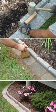 Pavers as edging