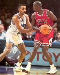 Dell Curry VS Michael Jordan