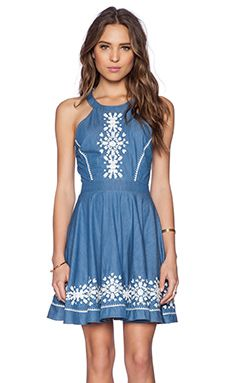 Lovers + Friends Hazel Dress in Blue Lagoon