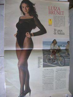 Revista Manchete Antiga... Luiza Brunet ..1992