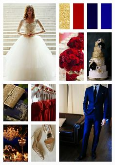 Reflections Weddings and Events: Navy, Cranberry and Gold Wedding Inspiration