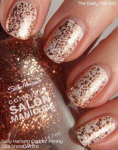 Sally Hansen Complete Salon Manicure in Copper Penny over white