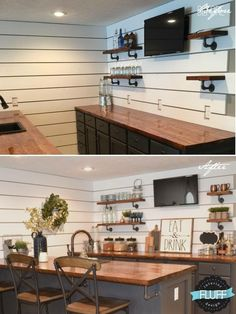 Amazing basement bar ideas are here to inspire you into sprucing up your home with new and exciting enterntainment options, are you ready? Basement Makeover, Basement Renovations, Home Remodeling, Basement House, Basement Bedrooms, Basement Bathroom, Basement Ceilings, Basement Laundry, Basement Kitchen