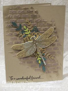 Card by Lynn Dunn [Stampin' Up! Butterfly Cards, Flower Cards, Stampin Up Karten, Album Scrapbook, Bee Cards, Embossed Cards, Stamping Up Cards, Card Sketches, Masculine Cards
