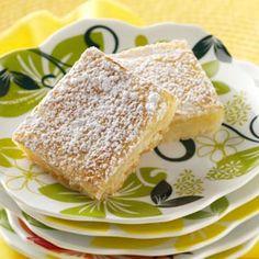 Bake-Sale Lemon Bars Recipe from Taste of Home -- shared by Mildred Keller of Rockford, Illinois