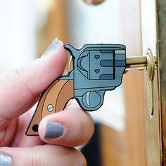 KILLER KEYS Novelty Gun Shaped Key Covers Fun Novelty Guys Gift Stocking Filler