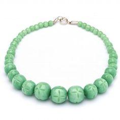 Splendette Carved Fakelite Beads Mint