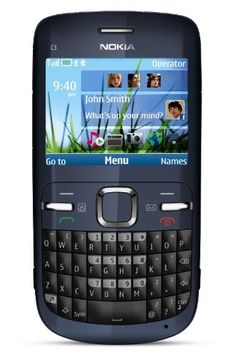 Nokia C3-00 Unlocked Cell Phone with QWERTY, Dedicated E-mail Key, 2 MP Camera, Media Player, WLAN, and MicroSD Slot--U.S. Version with Warranty (Slate)