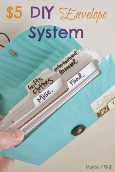 $5 DIY Envelope System. Super Simple and Easy + Budget Printables! #envelopesystem #daveramsey #budget {www.maybeiwill.com}