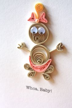 Whoa, Baby - New Baby Girl Card - New Baby - Expecting - Parents - New Parents - Congratulations. $7,00, via Etsy.