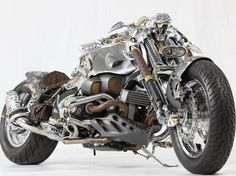 This elaborate custom-made motorcycle is by Athens-born Cris Cofitis.