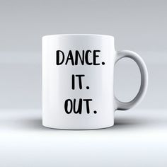 Dance It Out Grey's Anatomy Mug | Meredith And Cristina | Cute Mugs | Funny Mugs…