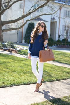 Southern Curls & Pearls: Prepster. Cuff on Jean is perfect