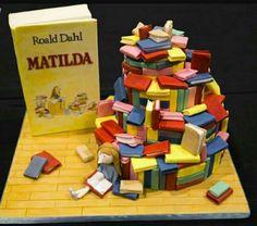 A Matilda cake for the serious Roald Dahl fan.