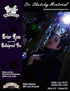 Dr. Sketchy Montréal: Briar Rose avec/with Bulletproof Vex