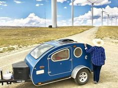 Vistabule teardrop trailers with Sunflare flexible solar panels