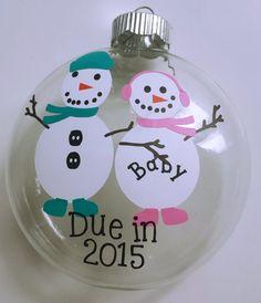 Pregnancy Snowman Christmas Ornament by TheSensoryEmporium on Etsy