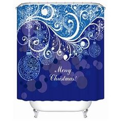 Fabulous Charming Attractive Lines and Baubles Shower Curtain