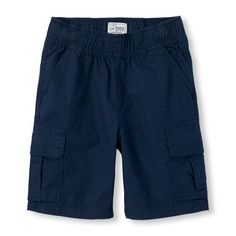 Boys Boys Pull-On Woven Cargo Shorts - Blue - The Children's Place