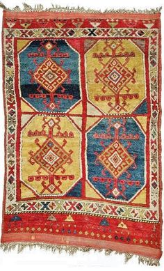 KONYA tribal 'yatak' rug, late 18th century.  From the eastern Konya area. 186 x 129 cm.  A 'yatak' was made to sleep on (long-piled and very soft wool).