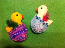 Felt Easter duckling ornaments