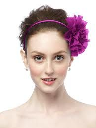 hot pink chiffon flower hair accessory  #hotbachelorette