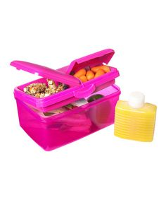 Take a look at this Pink 93-Oz. Quaddie Lunch Box Set by Sistema on #zulily today!